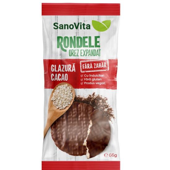 Rondele din orez cu glazura de cacao fara zahar