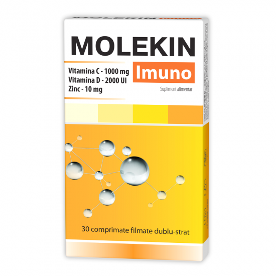 ZDROVIT MOLEKIN VITAMINA C + ZINC 20 comprimate efervescente