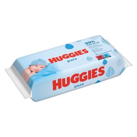 Servetele umede Pure, 56 bucati, Huggies