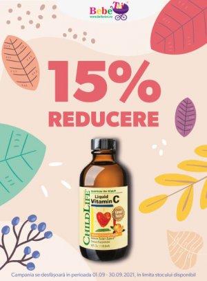 15% Childlife Vitamina C Septembrie 2021