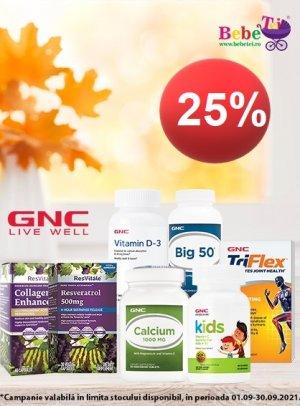 25% GNC Septembrie 2021