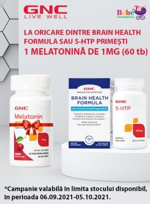 cu produs promotional Melatonina GNC in Septembrie 2021