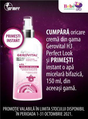 Cu produs promotional la Gerovital