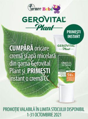 Cu produs promotional la Gerovital Plant