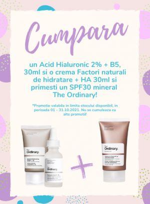 Cu produs promotional la Ordinary