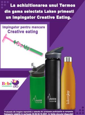 cu produs promotional un impingator Creative Eating Laken