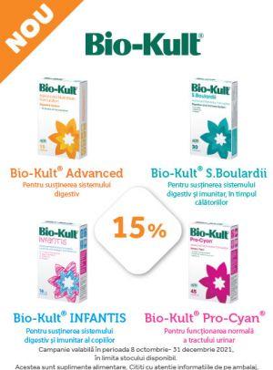 cu Reducere 15% la Bio Kult