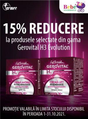 Cu reducere 15% la Gerovital