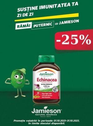 cu Reducere 25% la Echinacea Jamieson