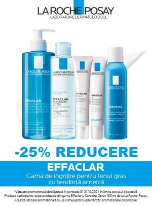 Cu reducere 25% la Effaclar