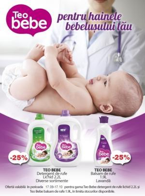 Cu reducere de 25% la Teo Bebe
