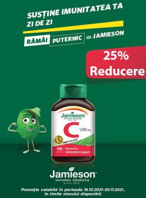 cu Reducere de 25% la Vitamina C Jamieson