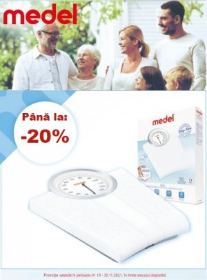 Cu reducere de pana la 20% la Medel