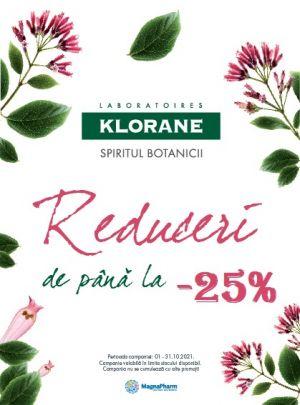 Cu reducere de pana la 25% la Klorane