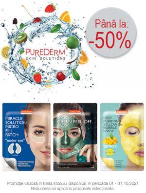 Cu reducere de pana la 50% la Purederm
