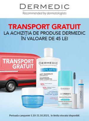 Cu transport gratuit la Dermedic