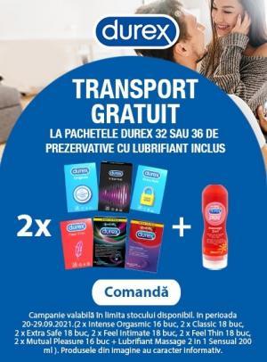 Cu transport gratuit la Durex