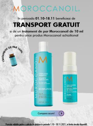 Cu transport gratuit la Moroccanoil