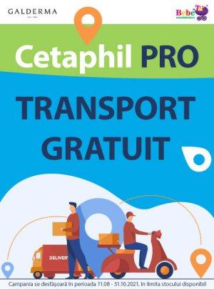 Transport gratuit Cetaphil 11.08-31.10.2021