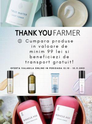 Transport gratuit la Thank You Farmer