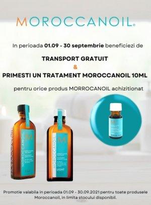 Transport Gratuit si Produs Promotional Moroccanoil
