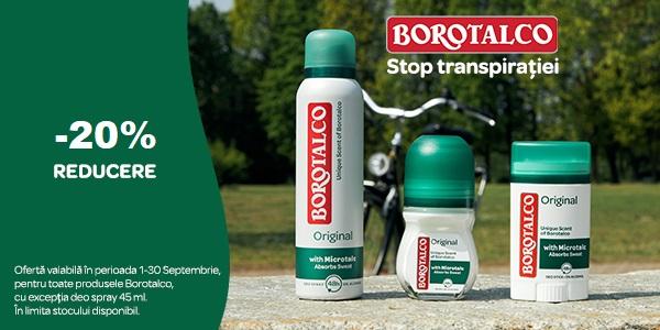 20% Borotalco Septembrie 2021