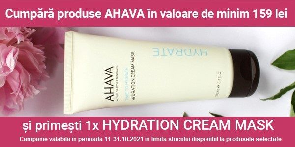 Cu produs promotional la Ahava