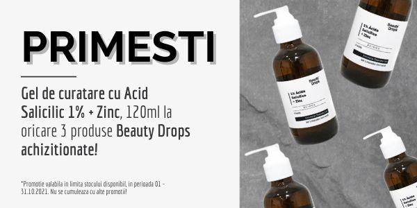 Cu produs promotional la Beauty Drops