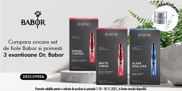 Cu produs promotional la Dr Babor