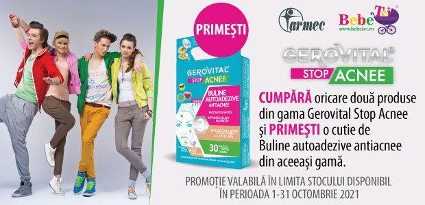 Cu produs promotional la Gerovital Stop Acnee