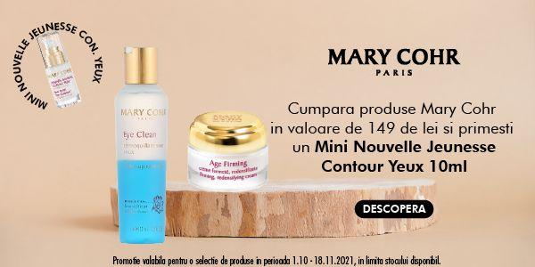 Cu produs promotional la Mary Cohr