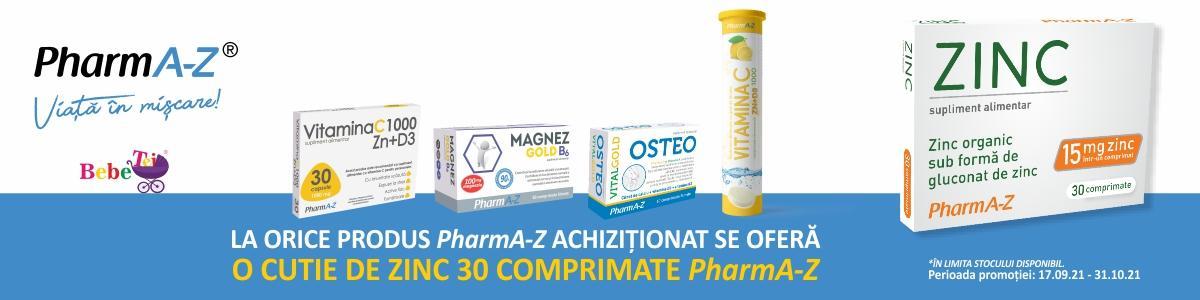 cu produs promotional Zinc 30 comprimate PharmA-Z