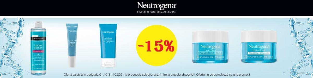 Cu reducere 15% la Neutrogena