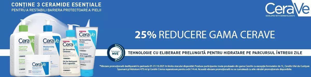 Cu reducere 25% la Cerave