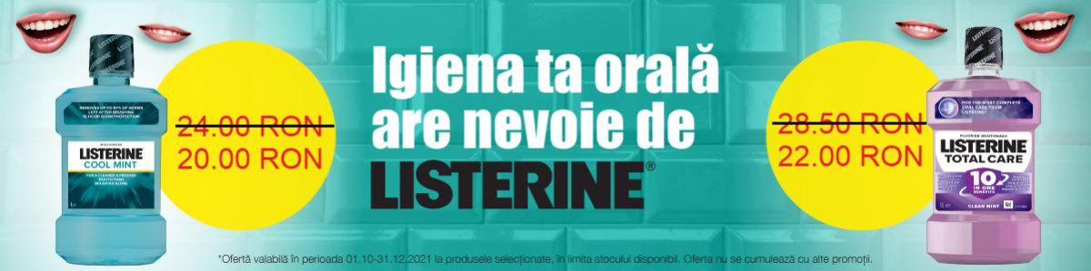 Cu reducere de pret la Listerine