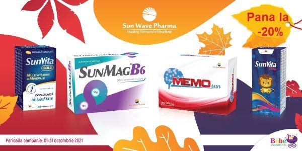 cu reducere pana la 20%  Sun Wave Pharma