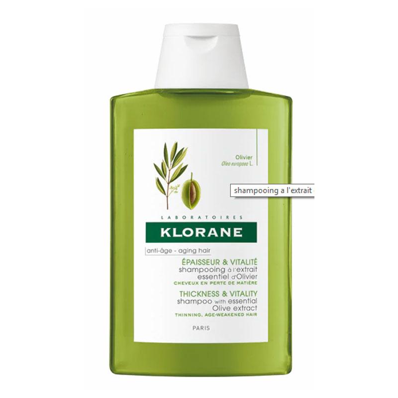 Șampon cu extract esențial de măslin Klorane, 200 ml, Pierre Fabre