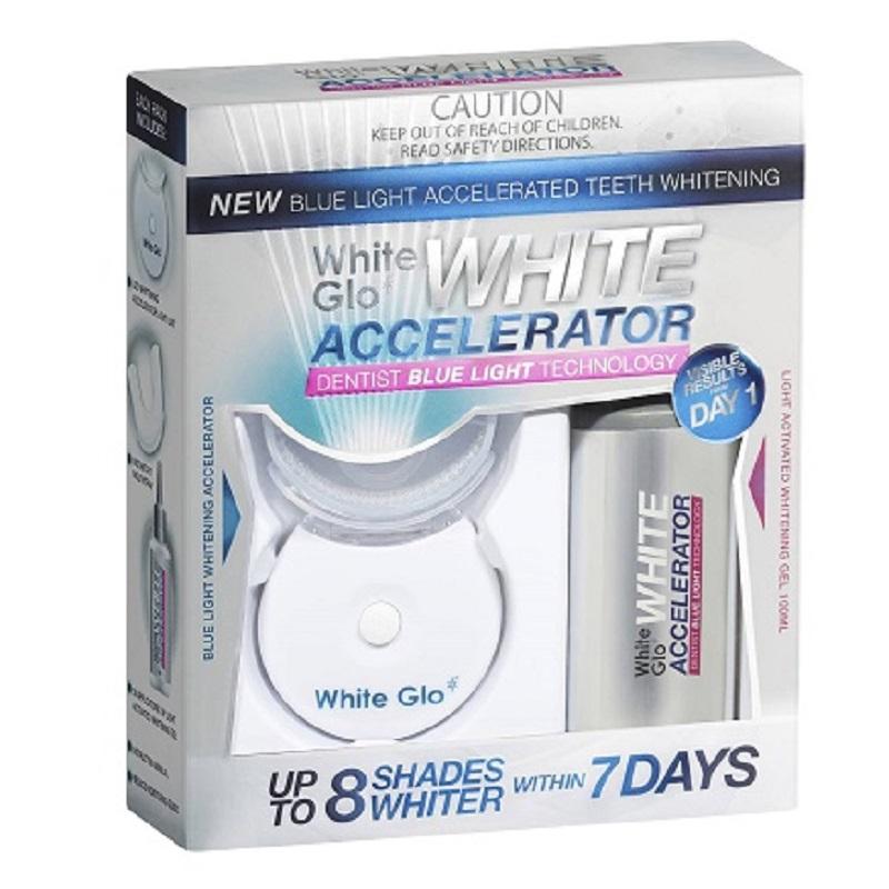 Kit tratament de albire White Accelerator, White Glo