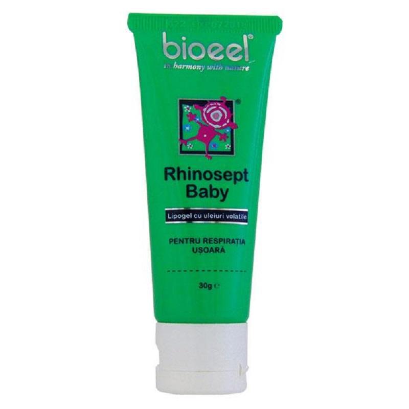 Lipogel cu uleiuri volatile, Rhinosept Baby, 30 g, Bioeel