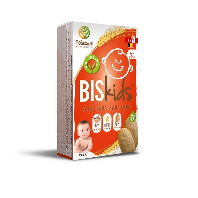 Biscuiți bio pentru copii, +6 luni, 150 g, Belkorn
