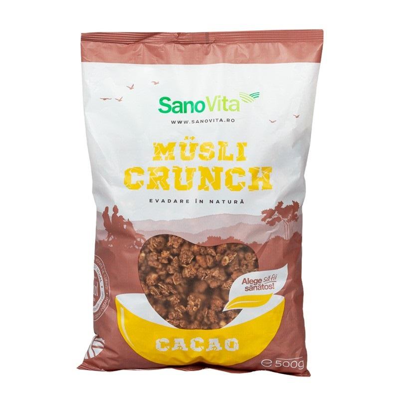 Musli Crunch cu Cacao, 500 gr, Sanovita