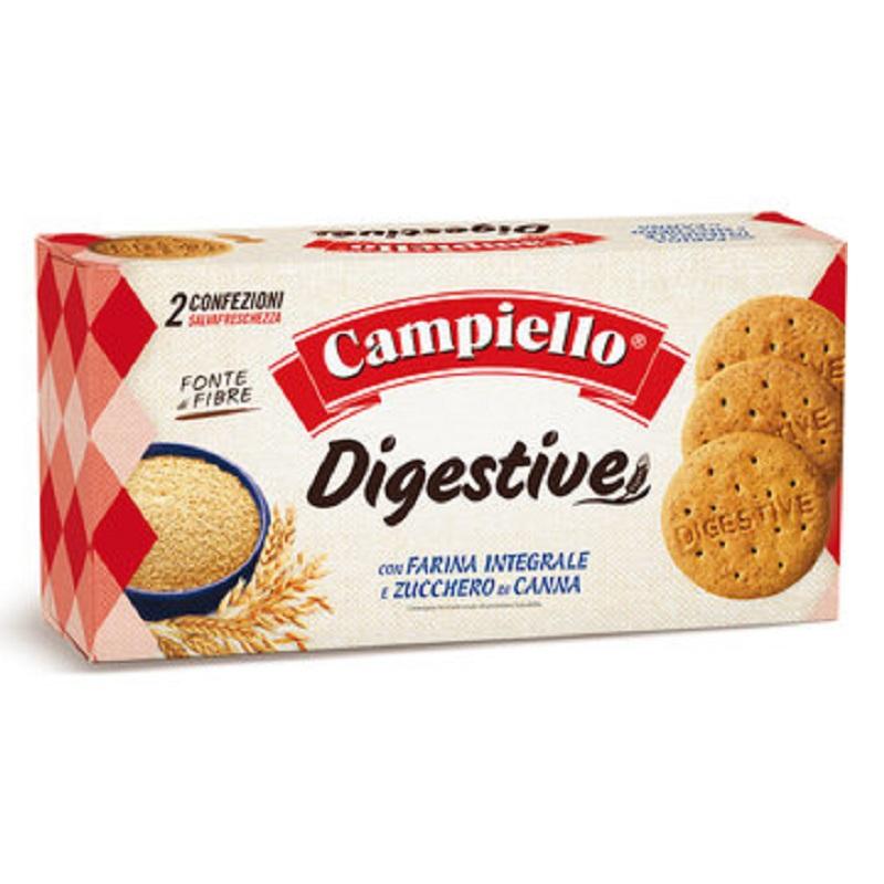 Biscuiti digestivi cu faina integrala, 380 g, Campiello
