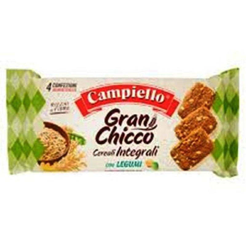 Biscuiti cereale integrale cu legume Gran Chico, 400 g, Campiello