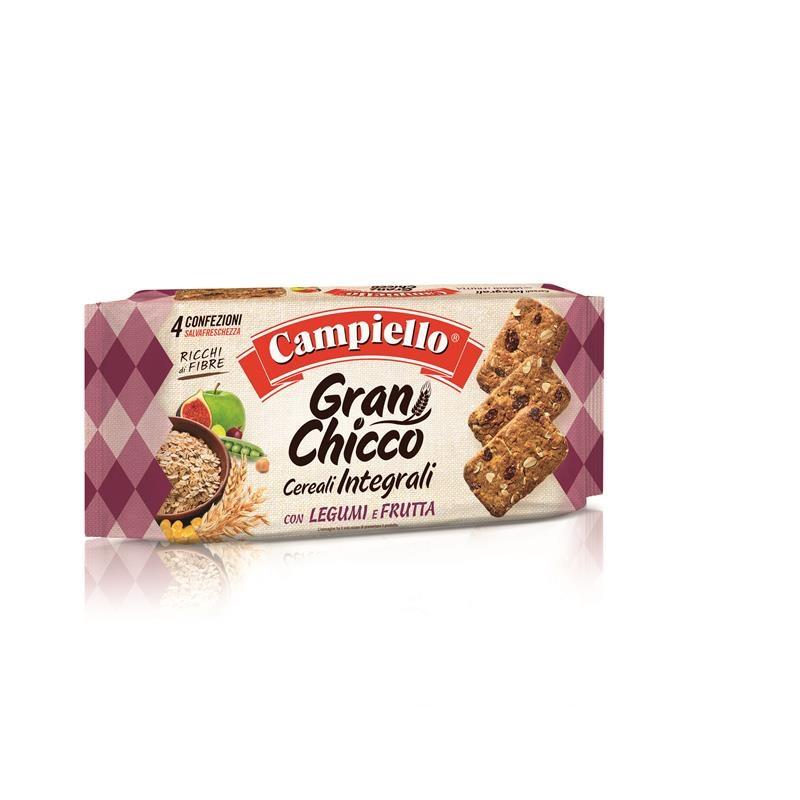 Biscuiți cu cereale integrale, legume și fructe, Gran Chicco, 400g, Campiello