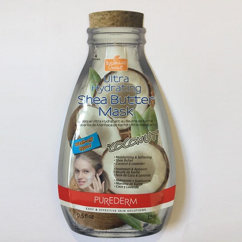 Mască hidratare și catifelare cu Unt de Shea, Cocoș și Lavandă, pentru piele uscată, 15 g, Purederm