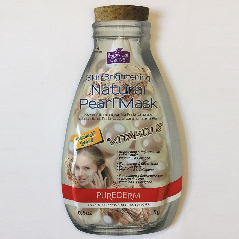 Mască pentru luminozitate și reîntinerire cu extract de perle, colagen și vitamina E, 15 g, Purederm