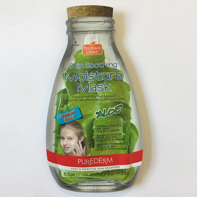 Mască hidratare și relaxare cu extract de Aloe, Ulei de măsline și Lavandă, 15ml, Purederm