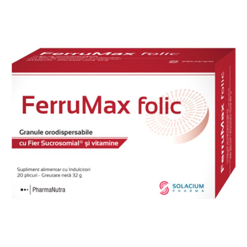 FerruMax folic, 20 plicuri, Solacium Pharma