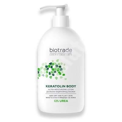 Loțiune de corp pentru piele foarte uscată Keratolin Body 12% Urea, 400 ml, Biotrade