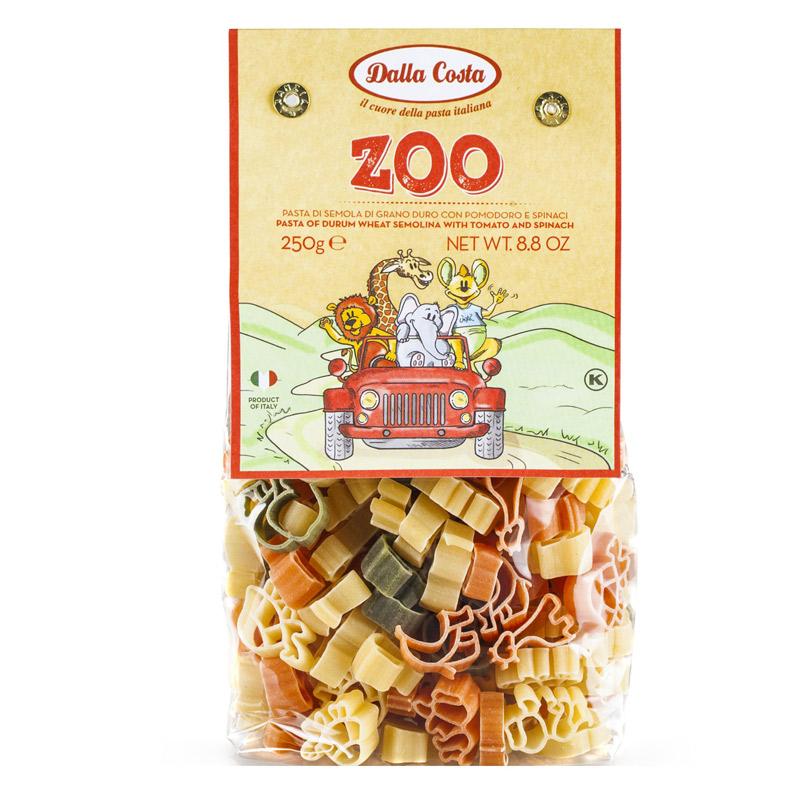 Paste din grau dur tricolore Zoo, 250 g, Dalla Costa